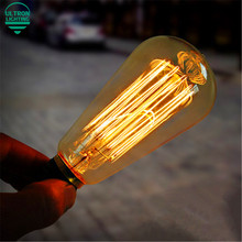 Retro Vintage 40W 220V Edison Light Bulb E27 Incandescent Bulbs ST64 A19 G80 G125 Squirrel-cage Filament Bulb Edison Lamp(China (Mainland))