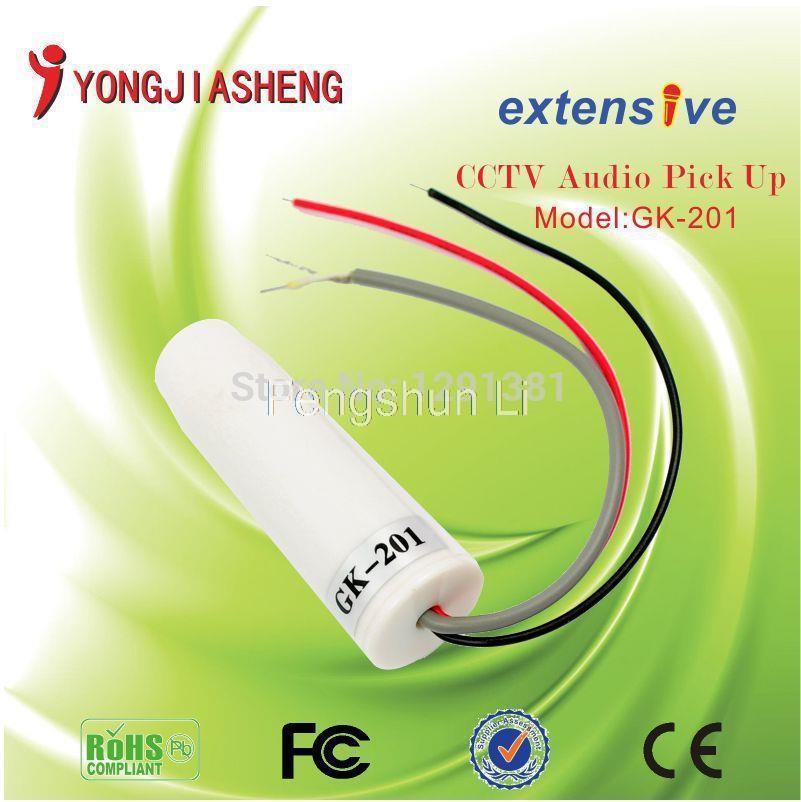 5PCS Pillar High Sensitivity Mini CCTV Microphone For Security Camera Audio Surveillance DVR CCTV Mic Sound Monitor(China (Mainland))