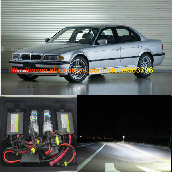Canbus Free Shipping 2Pcs/Lot Superbright HID 35w 12v Car HID Headlight Bulb For Bmw E38 1995-2001 740 750(China (Mainland))