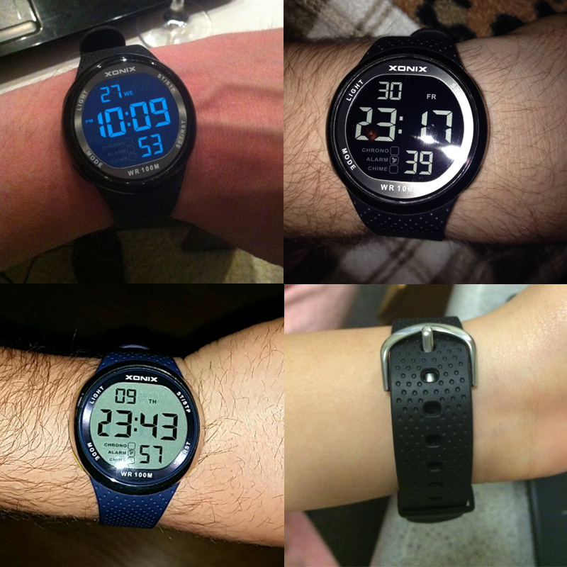 2016 Xonix Watches Men 100m Relogio Masculino Digital Swimming Reloj Hombre Deportivo Sports Sumergible Watch Not