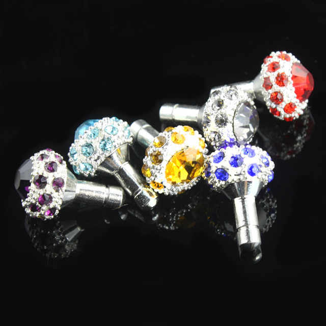 Charms Style Anti Dust Plug Stopper 3.5mm Dirt Proof for iPhone 4 4S 5G Cell Phone Dust Plug Cap Jack Accessory+Free shipping