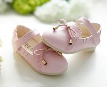 Kids&baby Girls Prewalker with Butterfly-knot  Spring&autumn Style  Lovely Fashion Princess Shoes(China (Mainland))