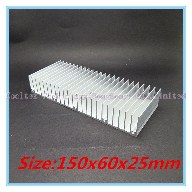 (Special offer) High quality 150x60x25mm radiator Aluminum heatsink Extruded profile heat sink for Electronic heat dissipation(China (Mainland))