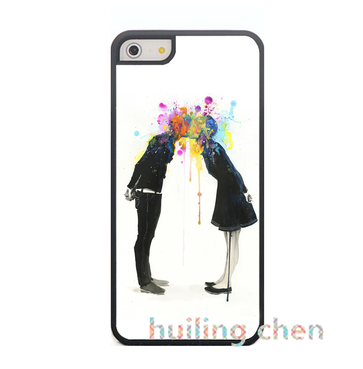 lora zombie big bang kiss fashion original cell phone case cover for iphone 4 4s 5 5s 5C 6 6plus Q229(China (Mainland))