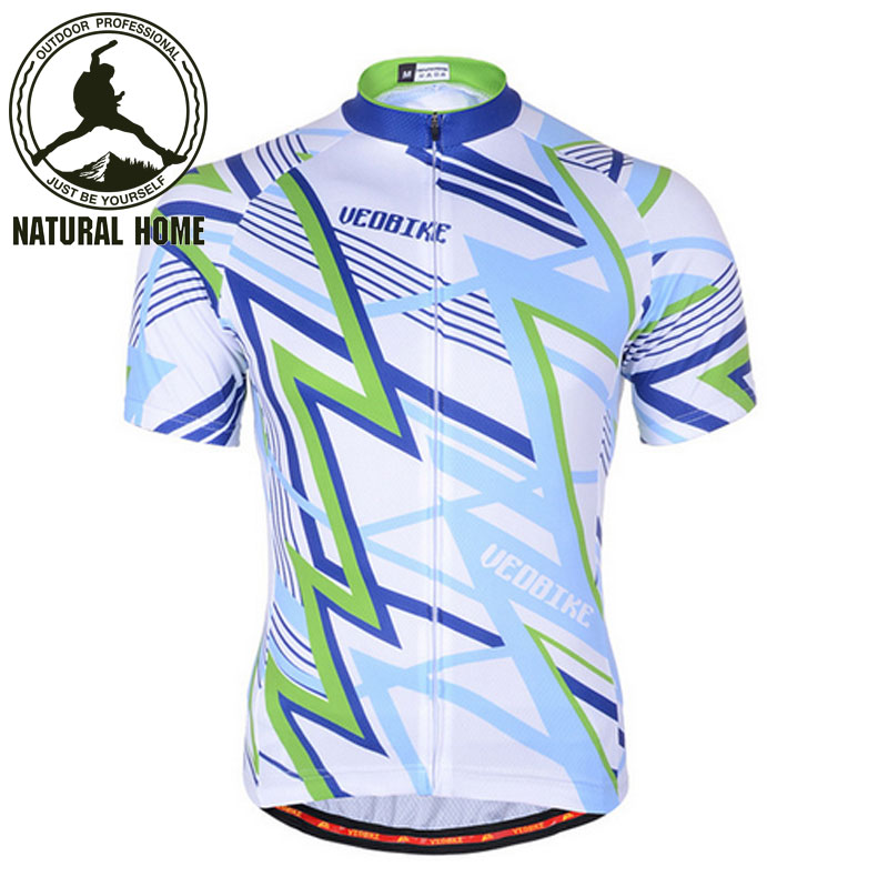 [NaturalHome] Brand Printed Pattern Bike Bicicleta Top Clothes Outdoor Sport Quick-Dry Shortsleeve New Summer Cycling Jersey(China (Mainland))