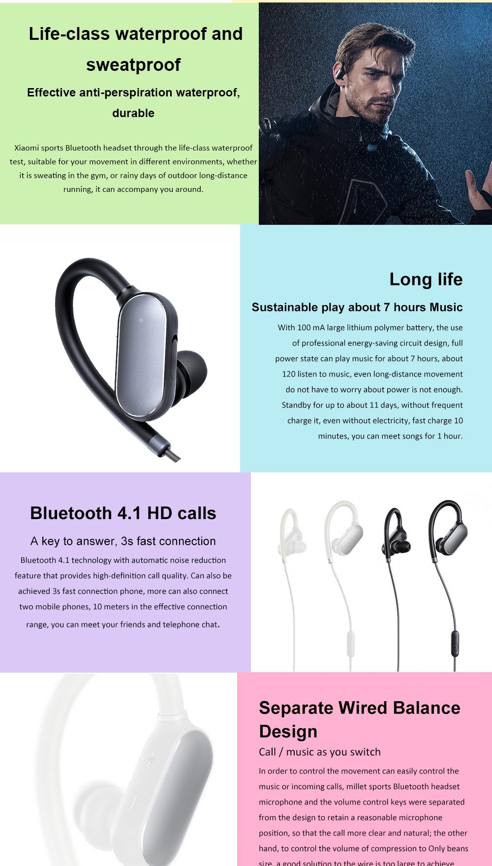 Original Xiaomi Mi Sport Bluetooth Headset Xiaomi Wireless Sports Earbuds IPX4 Waterproof Earphone for iPhone xiaomi phone