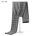 Men s Scarf Echarpe Plaid Pashmina With Solid Color 135 175 CM Long Sjaals Dames Winter