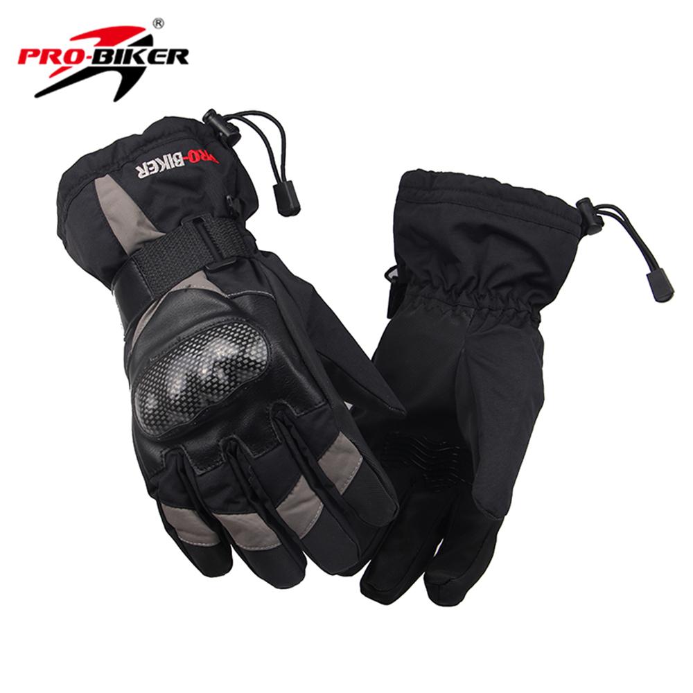 PRO-BIKER Men Women Winter Warm Motorcycle Gloves Waterproof Snowboard Snowmobile Skiing Gloves Motocross Riding Gloves(China (Mainland))