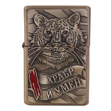 2016 New style gasoline lighter.Metal crafts. Fashion Tiger lighter. Men decorations.
