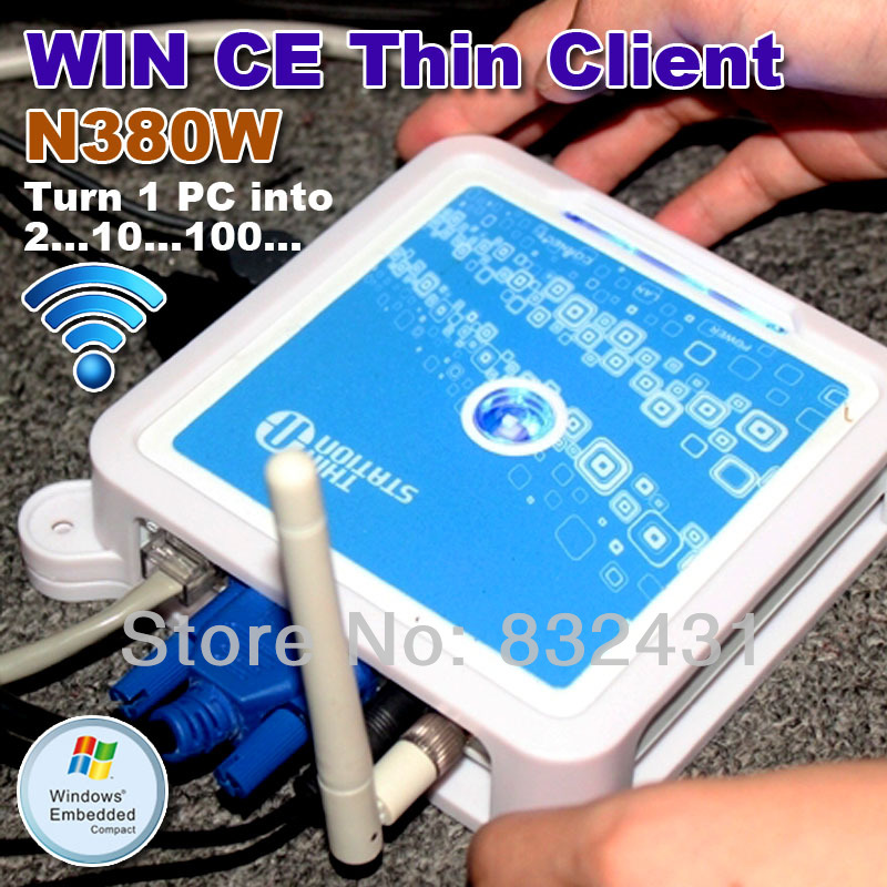 TS660W(N380W) Wireless Win CE 6.0 OS Network Terminal Thin Client Net Computer Sharing Support Winows 7 /vista(China (Mainland))