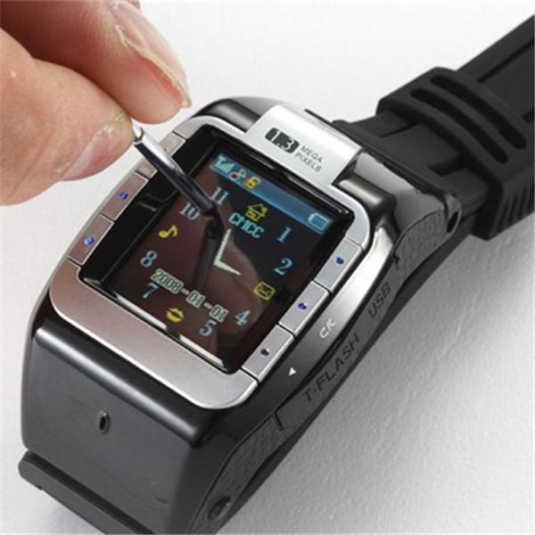 Hot Sell 1.4' Cool N388 Unlocked Touch Screen Watch Phone MP3/MP4/FM 1.3 MP Camera Single Sim Card Slot Bluetooth Free Shipping(China (Mainland))