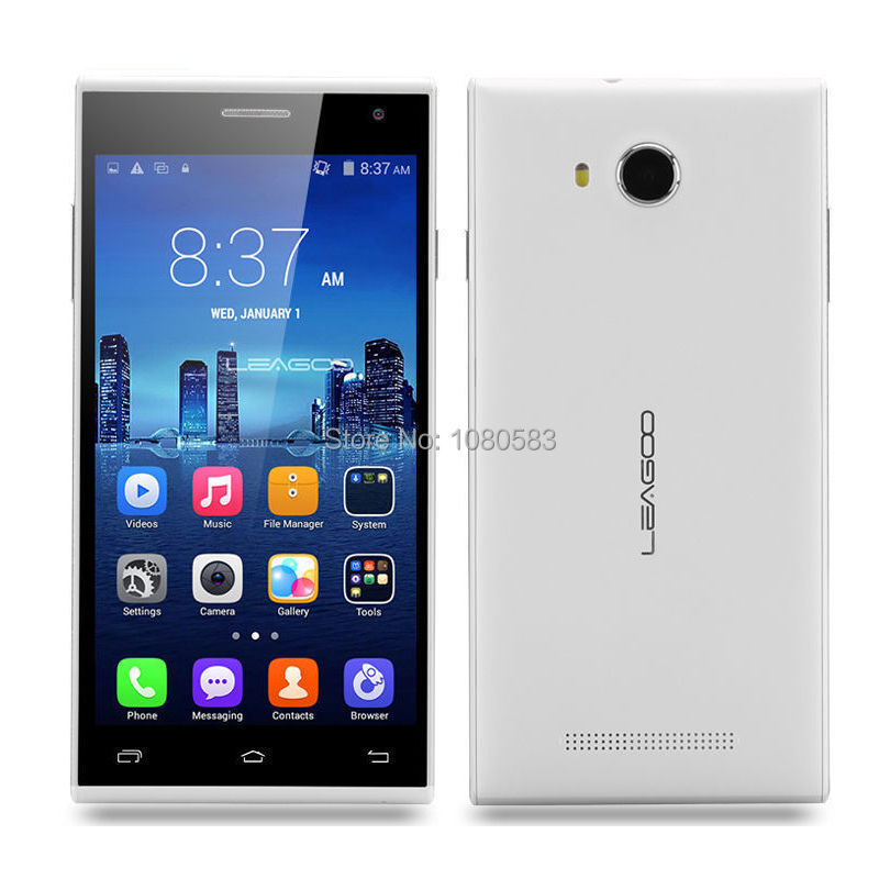 In Stock Original Leagoo Lead 5 Lead5 5 inch IPS 854x480 MTK6582 Quad Core Android 4.4 3G Mobile Cell Phone 1GB RAM 8GB ROM 8MP(China (Mainland))
