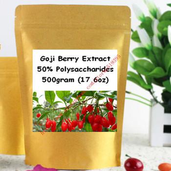 500gram(17.6oz) Goji Berry Extract Powder 50% Polysaccharide Strong Antioxidant, Anti-aging free shipping