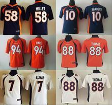 Youth Denver Broncos Kids children 94 DeMarcus Ware 7 John Elway 58 Von Miller 88 Demaryius Thomas 30 Anthony Davis,camouflage(China (Mainland))