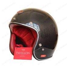 Wholesale TOP Original Motorcycle casco Real France Ruby Helmet 3/4 Open Face Scooter Helmet The carbon fiber Motorcycle helmet(China (Mainland))