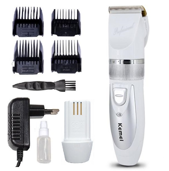 Original Professional Clipper hair trimmer Electric cutter hair cutting machine haircut two battery Ceramic Titanium 100-240v(China (Mainland))