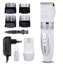 Original Professional Clipper hair trimmer Electric cutter hair cutting machine haircut two battery Ceramic Titanium 100-240v(China (Mainland))