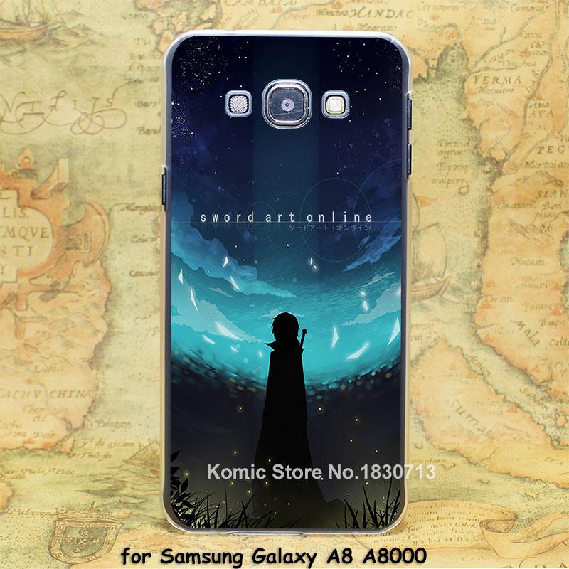 Sword Art Online Fanart Design hard transparent clear Skin Cover Case Samsung Galaxy a3 a5 a7 a8 a9  -  Komic store