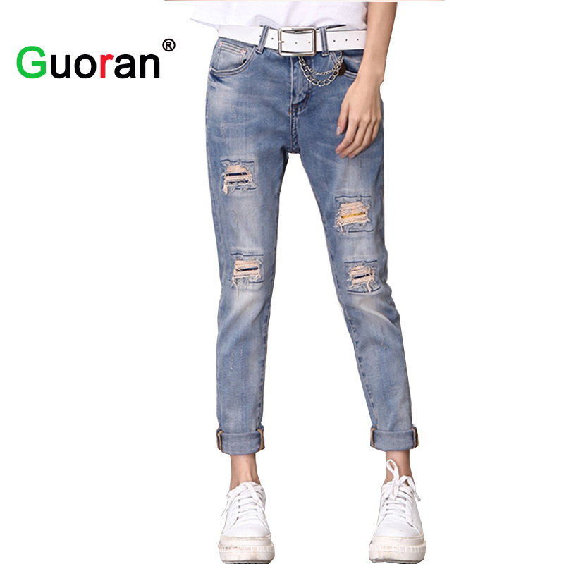 Compare Prices on Plus Size Ripped Jean Capris- Online Shopping ...