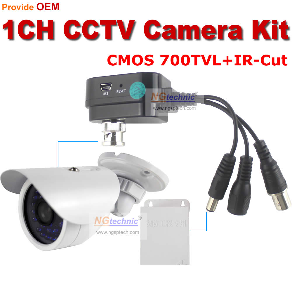 700TVL Waterproof Serveillance system Outdoor IR Night vision CCTV Camera with 1channel Supper Mini DVR support motion detect<br><br>Aliexpress