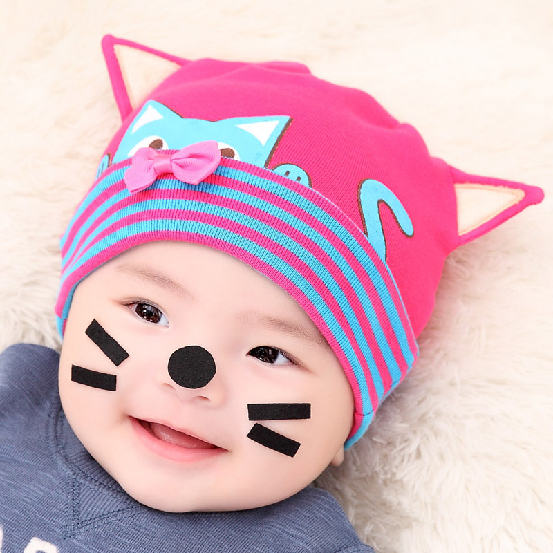 2016 new baby hat adorable kittens cap shape warm winter baby beanie hats for girls and boy(China (Mainland))