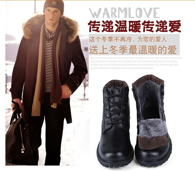Winter 47 super big size high top men cotton shoes outdoor casual martin boots warm Non-slip snow boots<br><br>Aliexpress