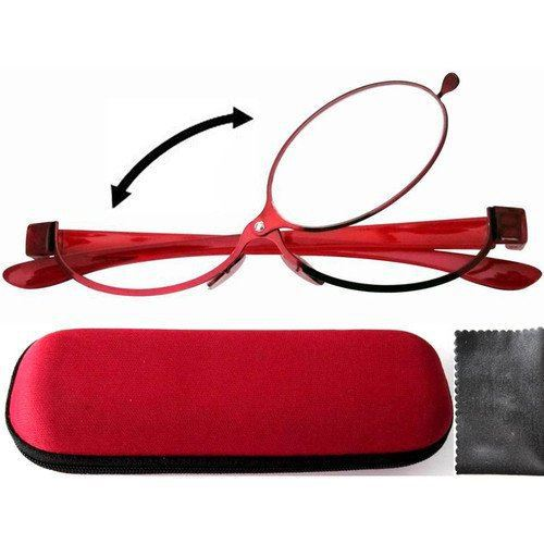 Patent Red Magnifying Makeup Reading Glasses Make Up Flip up +1.50+2.0+2.50+2.75 +3.00+3.25 +3.50+4.0 TM new 2014(China (Mainland))