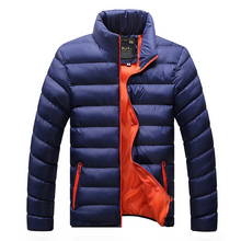 Free Shipping 2015 Mens Puffer casual warm Jackets solid thin breathable Winter Down Jacket Men Outdoors Coat Men Winter RJ8018