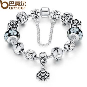 Аутентичные серебра 925 круглая очарование подходят пандора браслет с цепи для женщин ...