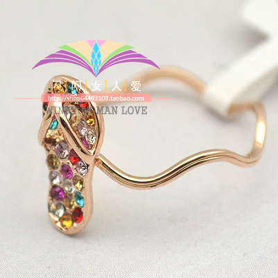 GH689 Italina Gold plated The Lace Wave round Punk Shoe of colorful Austrian Crystal SWA Element Rings o Jewelry For Women(China (Mainland))