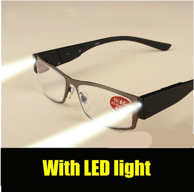 W305 с из светодиодов легкий вес очки для чтения сплав рама мужчины женщины бренда ...