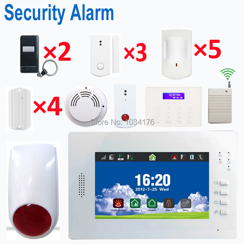 new touch screen 2015 gsm landline security alarm set(China (Mainland))