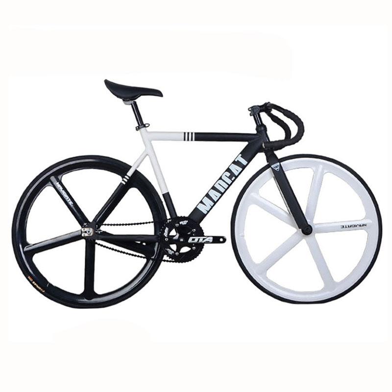 Fixed Gear Bike fixie 700C Bike Frame 52cm Aluminum Alloy FRAME FORK track bicycle Magnesium Alloy wheel bike