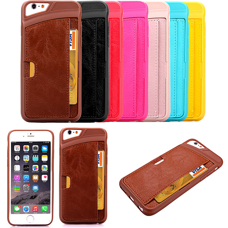 ! Business Style Luxury Leather Case Apple Iphone 6 4.7inch Fashion Wallet Card Holder Wax Phone Pouch Cover Iphone6 - Milky Way Technology Co., Ltd. store