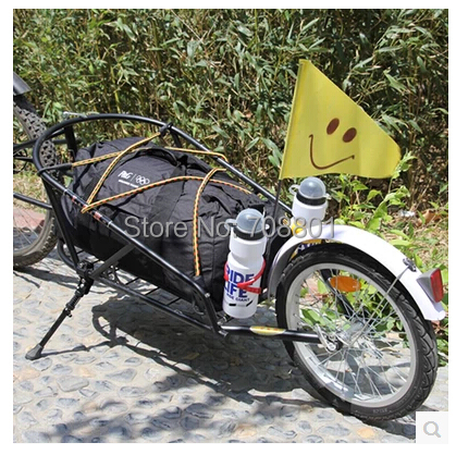 High carbon steel Bike trailer for parcel,16 inch Aluminum alloy air wheel bicycle trailer for outdoor(China (Mainland))