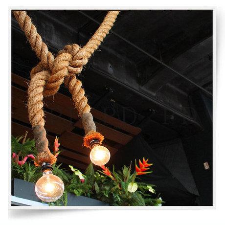 Hemp rope pendant light bar decoration bronze hanging light personalized diy handmade technology classical pendant lights(China (Mainland))