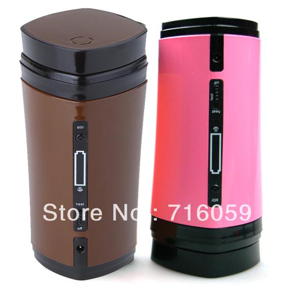 FREE SHIPPING creative USB coffee cup stirring&heating cup stir heat warmer coffee mug coffee&pink(China (Mainland))