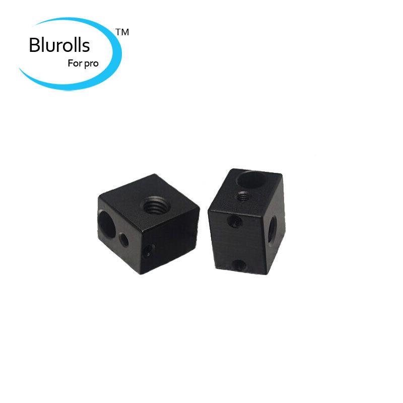 3d printer accessory diy aluminium heater block for e3d hot end black oxide finish top quality