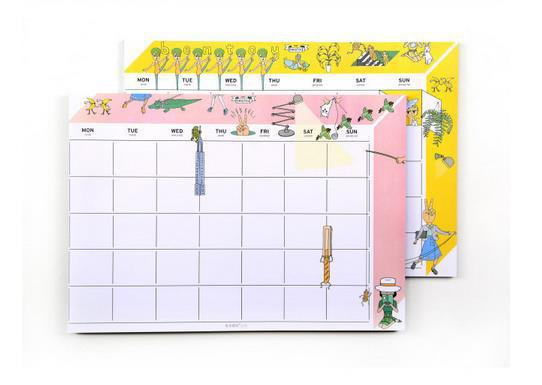 Oohlala bentoy A4 size desk note pad monthly weekly planner desktop memo pad bentoy schedule agenda(China (Mainland))
