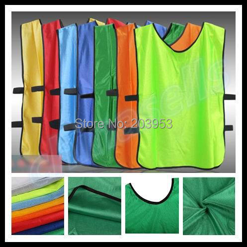 24pcs adult soccer football basketball group against scrimmage vest combat training vest man tank top lacrosse jerseys(China (Mainland))