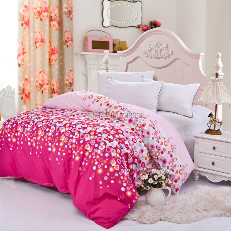 home textile 1pc duvet cover 200*230cm (not include comforter) quilt cover clothing 1pc/set rainbow villa town queen size(China (Mainland))