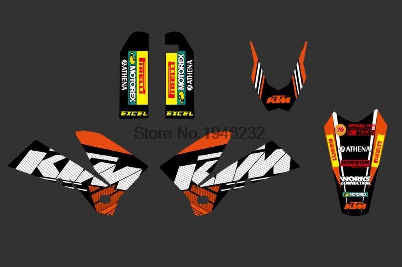 Купить 0270 оранжевый и черный новая команда графика с соответствующими фоны , пригодный для KTM SXF MXC SX кроме серии 2005 2006 2007