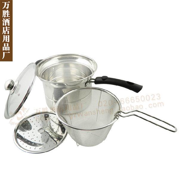 Buffet stainless steel multi-purpose pot / stew pot soup / pasta pot / boiling milk pot / frying pan with restaurants slipping t(China (Mainland))