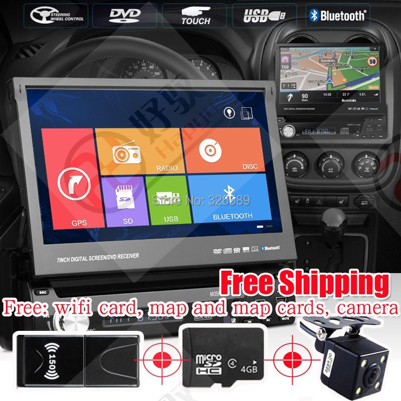 Car Radio player 7inch one din Detachable Panel Car DVD Player with built in DVB-T Digital TV GPS wifi&3G Win 8 interface(China (Mainland))