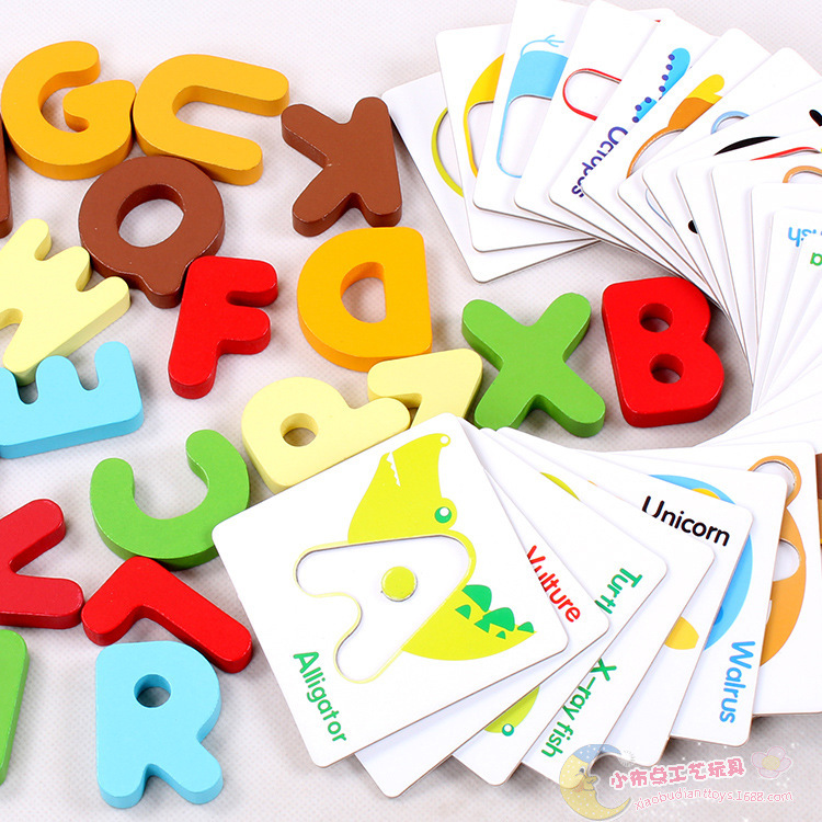 English Letters Block Wooden Educational Baby Toys Early Learning Toys Children Gift<br><br>Aliexpress