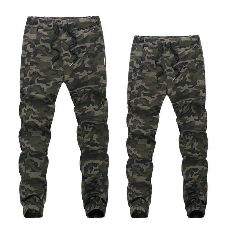 Lastest Women Camouflage Army Green Print Capri Cargo Wide Baggy Pants Bottom