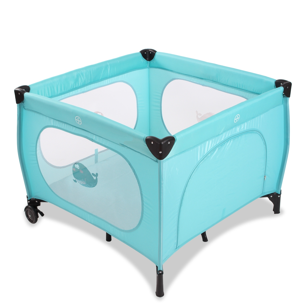 Environmental babybed folding portable crib attachable for Baby bed with wheels