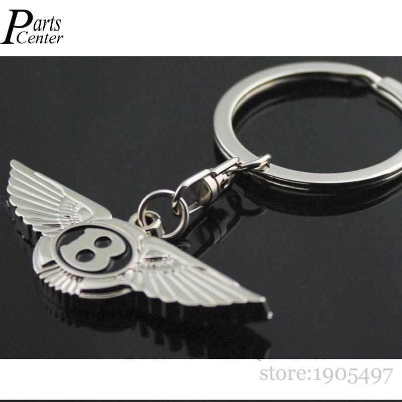 Metal 3D Car Keychain Keyring For Bentley Mulsanne Flying Spur Bentayga Auto Key Chain Ring Keyholder(China (Mainland))