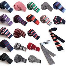 New Hot Fashion Male Brand Slim Designer Knitted Neck Ties Cravate Narrow Skinny Neckties For Men Freeshipping C1