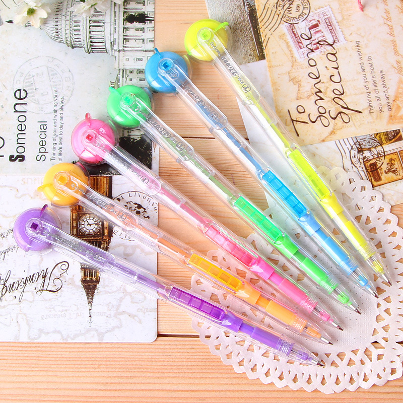 School Supplies Real 2015 Sale Color Pencils for School Pencil 8166 Excellent Pai New Tianzhuo 017 Side By Rotating Eraser 0.5(China (Mainland))